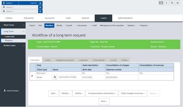 Workflow FRONTeO Loans